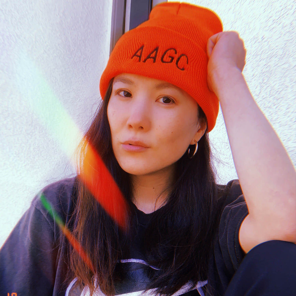 The Bubble Neon Beanie - Orange