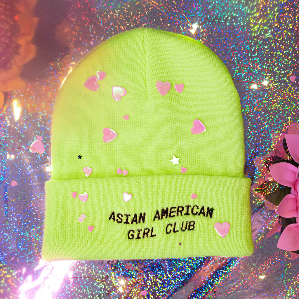 The Bubble Neon Beanie - Yellow