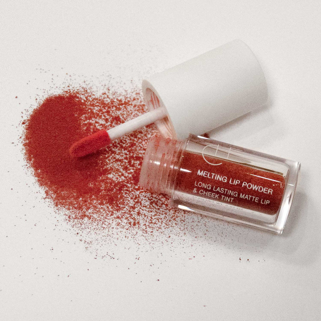 CLE x AAGC Melting Lip Powder in Undefinable Rouge