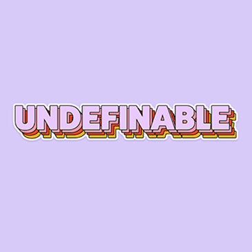 Undefinable (STICKER)