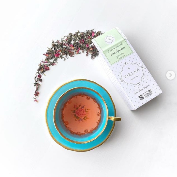 Tea Review by Tea With Jann of Rose Moscato Green Tea