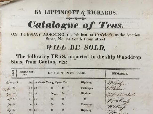 Catalogue of tea