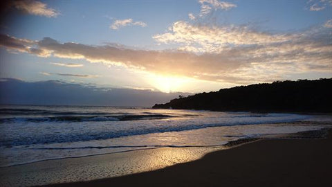 Sunrise at Agnes Water main beach