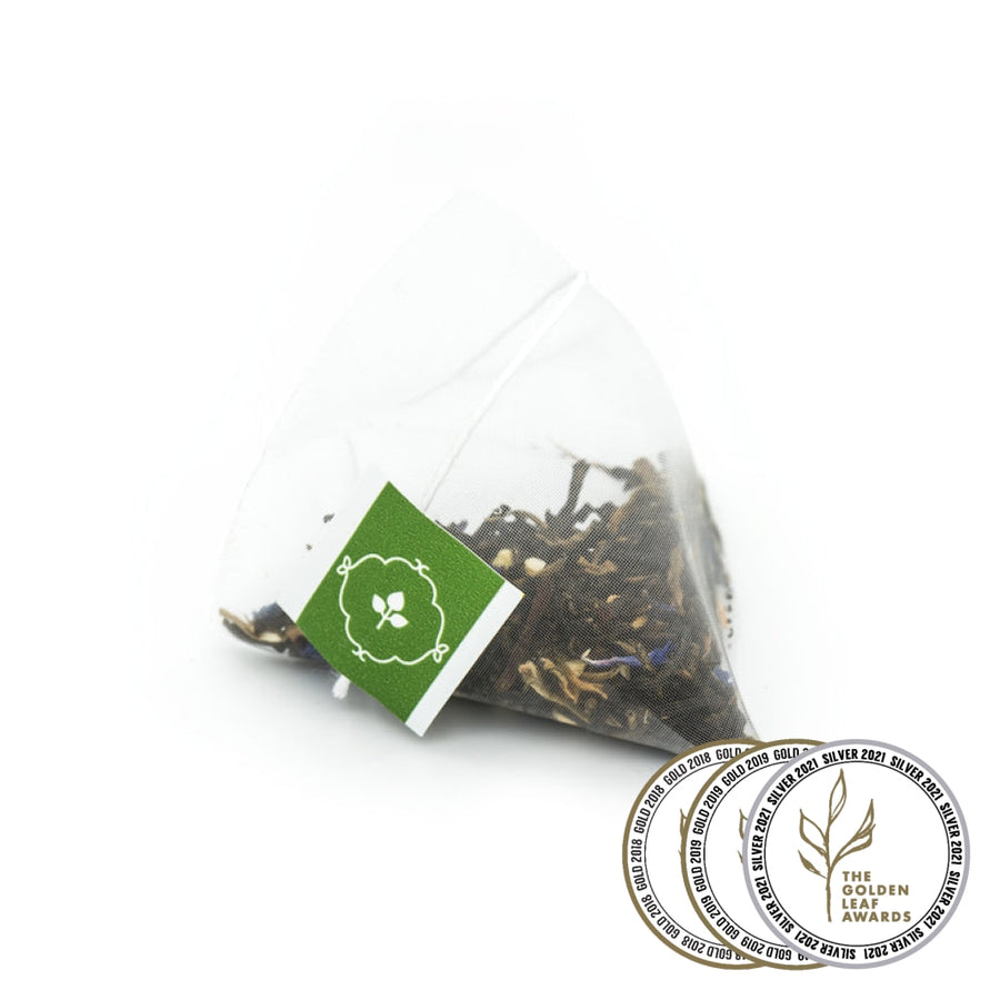 Fairtrade organic Earl Royale Black Tea Pyramid Infusers by Tielka