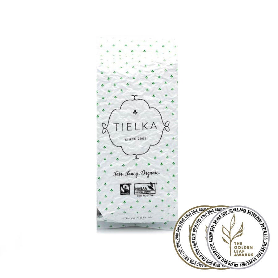 Fairtrade organic Earl Royale Black Tea Pyramid Infusers Foil Pouch by Tielka