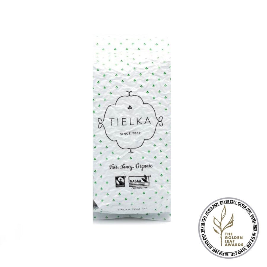 Fairtrade Organic Loose Leaf Moonlight White Tea Foil Pouch by Tielka