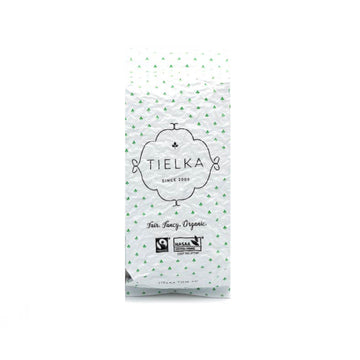 Fairtrade Organic Loose Leaf Jade Mist Green Tea Foil Pouch by Tielka