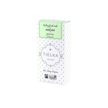 Fairtrade Organic Loose Leaf Jade Mist Green Tea Box by Tielka