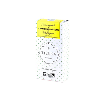 Fairtrade Organic Loose Leaf Chamomile Blossoms Herbal Infusion Box by Tielka