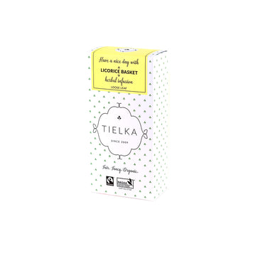 Fairtrade Organic Loose Leaf Licorice Basket Herbal Infusion Box by Tielka