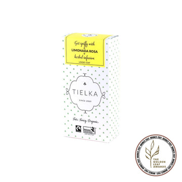 Fairtrade Organic Loose Leaf Limonada Rosa Herbal Infusion Box by Tielka