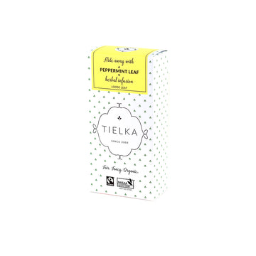 Fairtrade Organic Loose Leaf Peppermint Leaf Herbal Infusion Box by Tielka