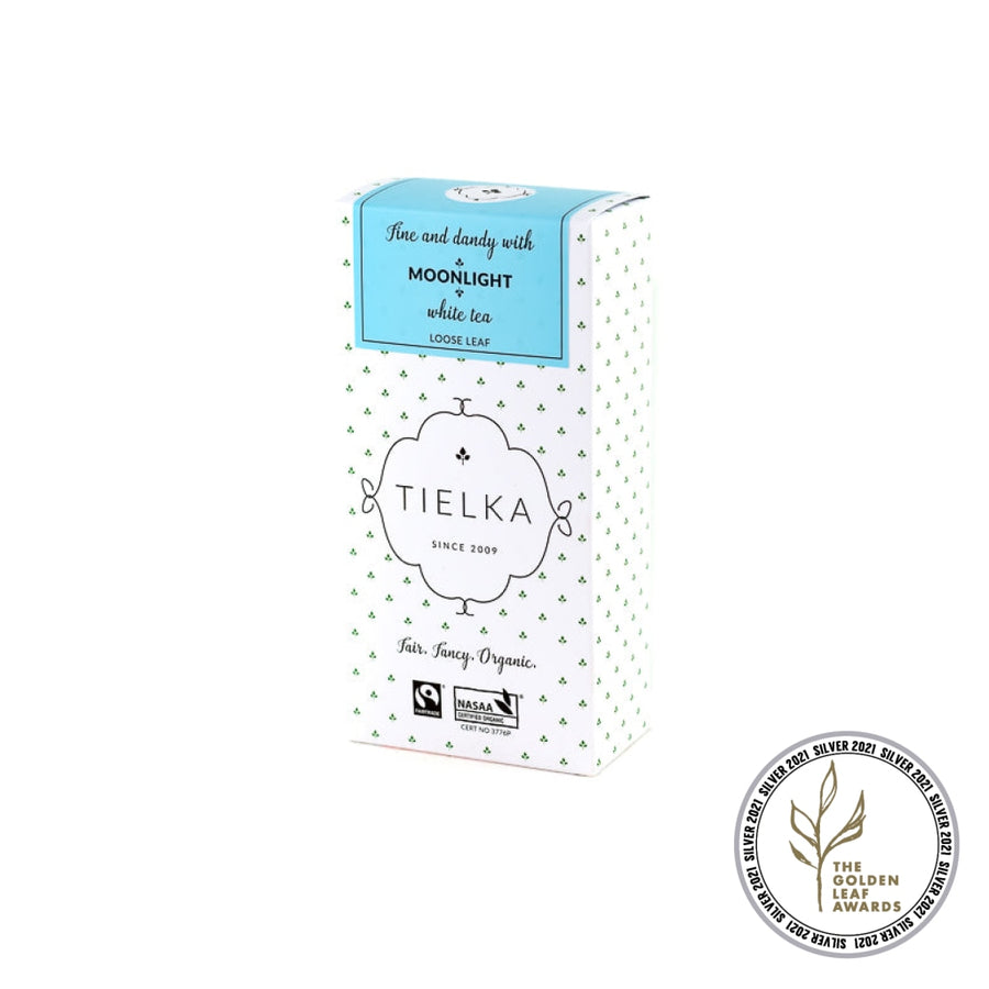 Fairtrade Organic Loose Leaf Moonlight White Tea Box by Tielka