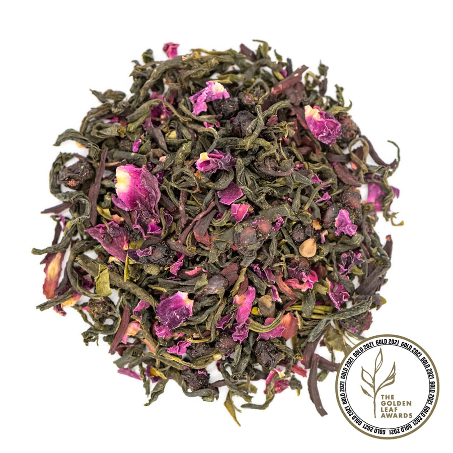 Fairtrade Organic Loose Leaf Rose Moscato Green Tea by Tielka
