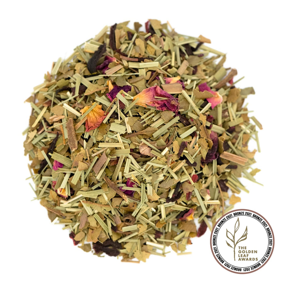 Fairtrade Organic Loose Leaf Limonada Rosa Herbal Infusion by Tielka