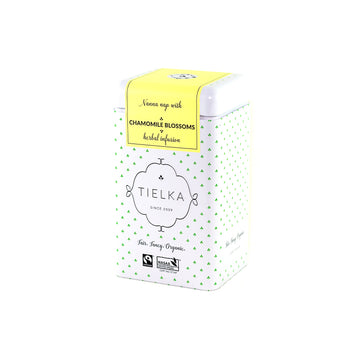 Fairtrade Organic Loose Leaf Chamomile Blossoms Herbal Infusion Tin by Tielka