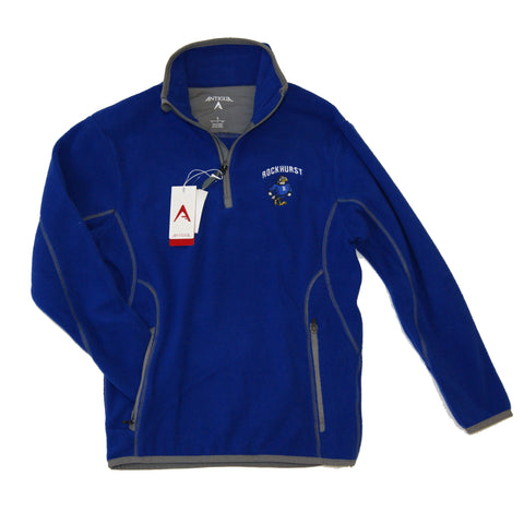 Pullover Fleece with Quarter Zip in Royal by Antigua