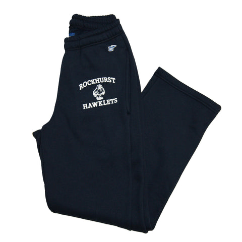 Open Leg Sweatpant in Navy