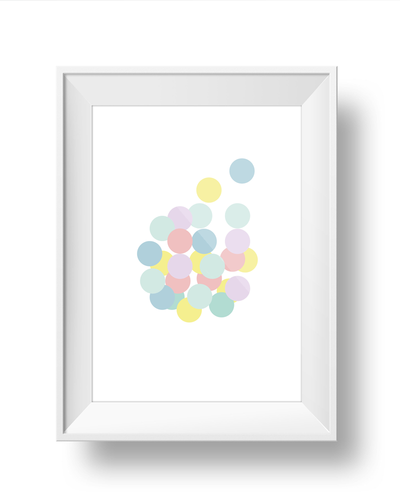 Multi-coloured Circles Art Print