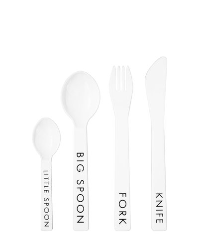SAMPLE SALE Four Piece Typography Melamine Cutlery Set