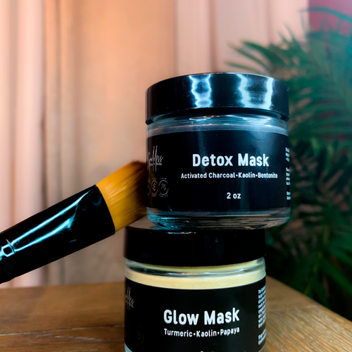 Detox + Glow Mask Duo includes mask brush