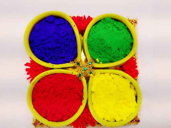 Holi Organic Colours - Pack of 4 colors - Ahaeli