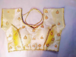 Designer Blouse - Gold Art Silk - Ahaeli
