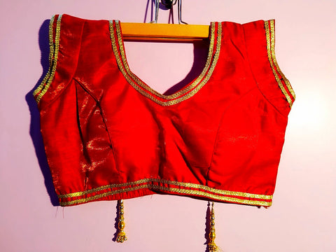 Designer Blouse - Maroon Raw Silk