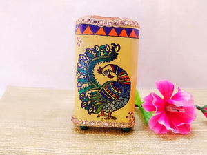Pen Stand - Peacock Design Mithila Art - Ahaeli