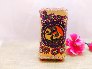 Pen Stand - Fish Design Mithila Art - Ahaeli