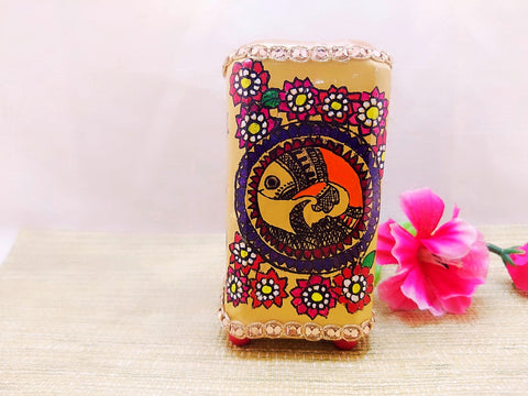 Pen Stand - Fish Design Mithila Art