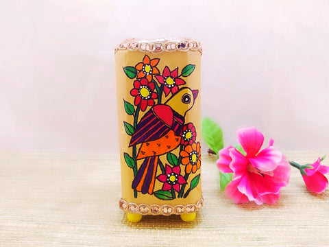Pen Stand - Bird Design Mithila Art