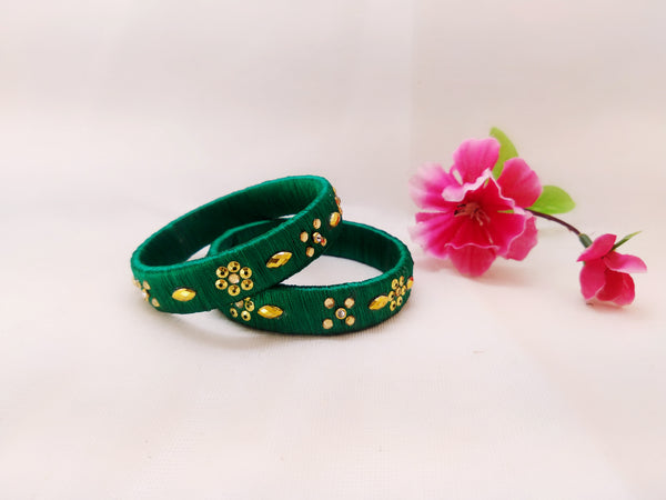 Silk Bangles - Bangles (Set of 2) - Ahaeli