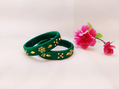 Silk Bangles - Bangles (Set of 2)