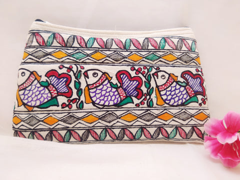 Zip Pouch - Mithila Art (Design 1)
