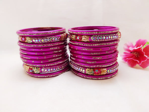 Lac Bangles - Pink (Set of 20)