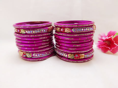 Lac Bangles - Pink (Set of 20) - Ahaeli