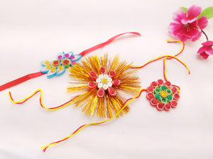 Rakhi - Quilled Rakhi (Set of 3) - Ahaeli