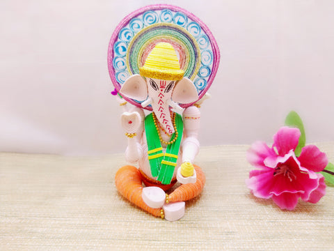 Miniature - Ganesha - Quilled Art - Ahaeli
