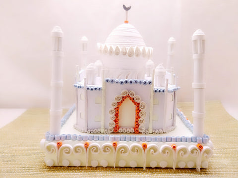 Miniature - Taj Mahal - Quilled Art - Ahaeli