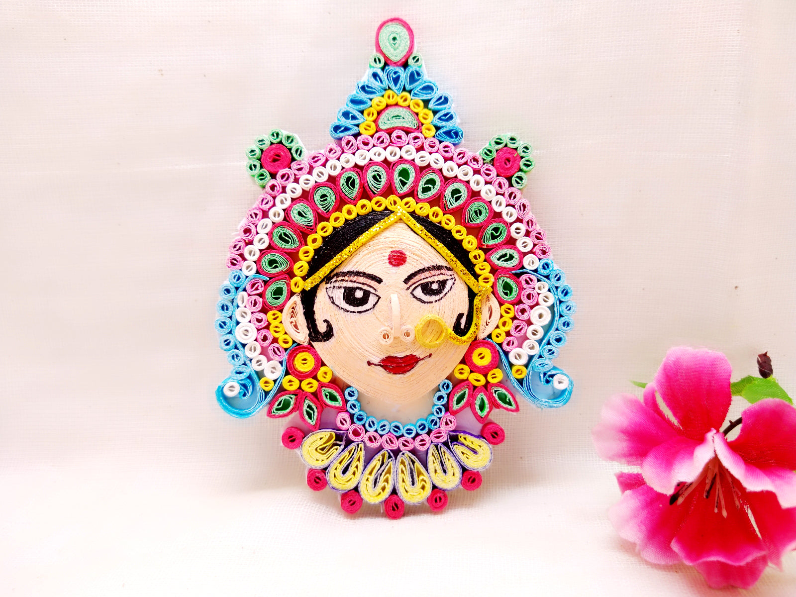 Fridge Magnets - Goddess Durga - Quilled paper