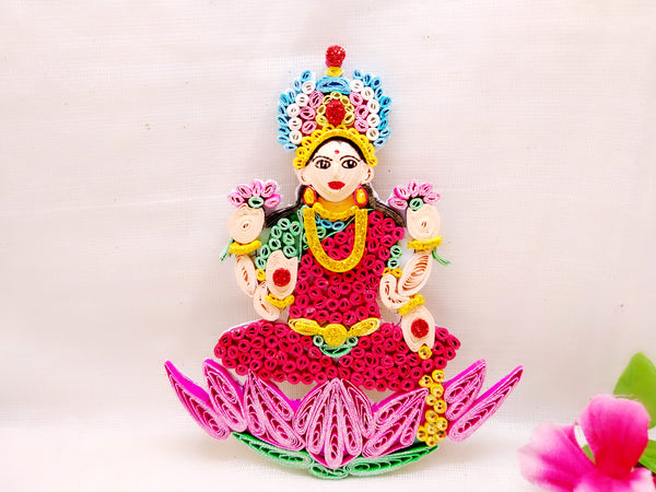 Fridge Magnets - Goddess Laxmi - Quilled paper