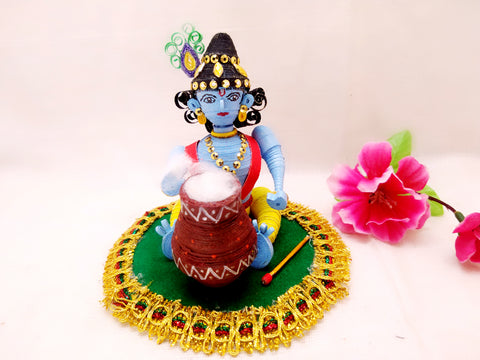 Miniature - Krishna - Quilled Art - Ahaeli