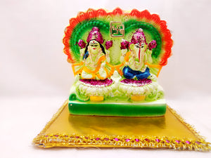 Statue - Laxmi Ganesha (Multi Color)