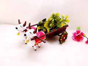 Miniature - Bullock Cart - Quilled Art - Ahaeli