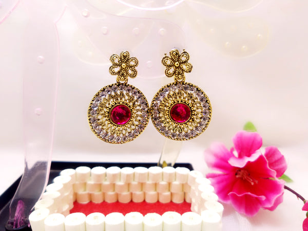 Earrings - Red Stone - Ahaeli