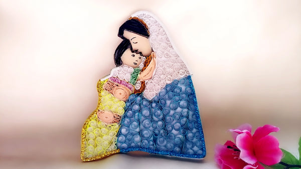 Fridge Magnets - Mother Mary- Quilled Art - Ahaeli