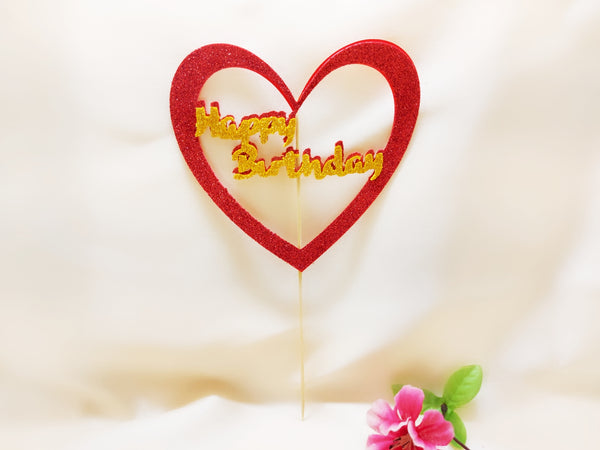 Cake Topper - Happy Birthday - Ahaeli