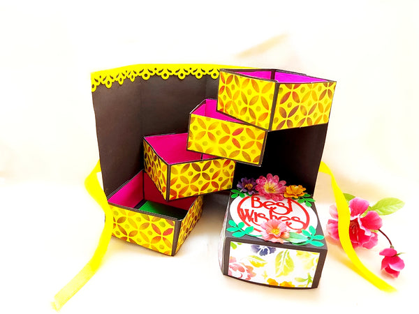 Greeting Card - Stepper Box