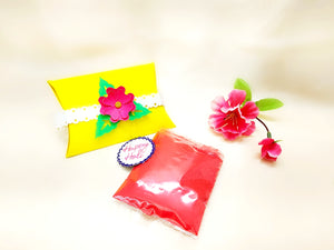 Holi Organic Colours - Paper Mache Favor Box - Ahaeli